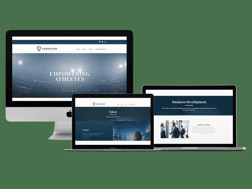 vanguard sports, website creation, creative allies