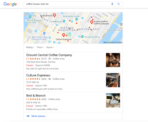 Google my Business Sample Page