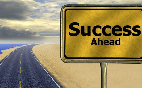 'Success Ahead' Road Sign