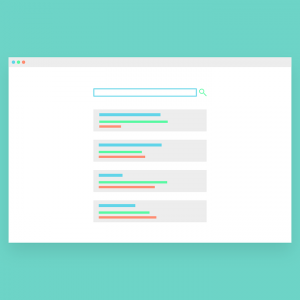 search page window illustration